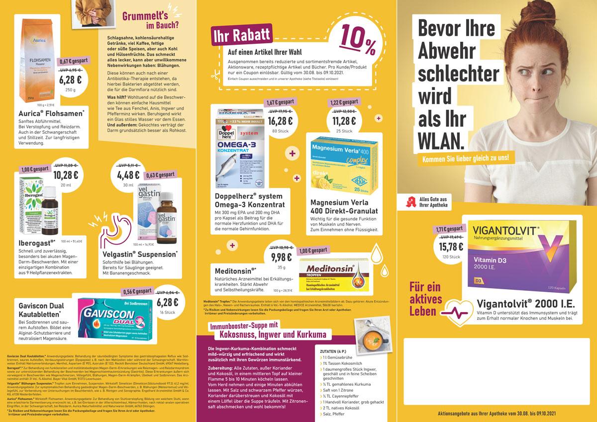 Aktuelle Angebote der Amtsapotheke Dillenburg